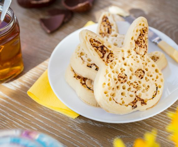 Easter Bunny Crumpets