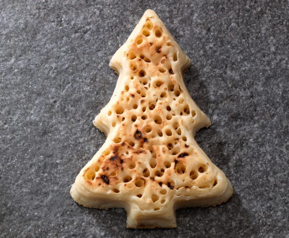 Christmas Tree Crumpets