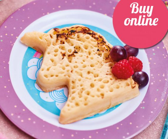 Unicorn Shaped Crumpets